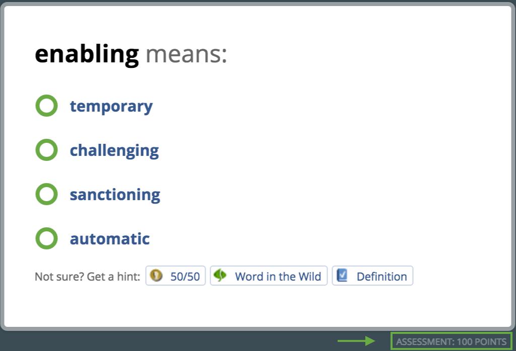 Question Types and Modes – Vocabulary com Help Center